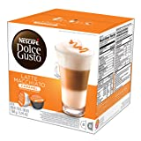NESCAFÉ Dolce Gusto Coffee Capsules Caramel Latte Macchiato 48 Single Serve Pods, (Makes 24 Specialty Cups) 48 Count (Tamaño: 16 Count (Pack of 3))