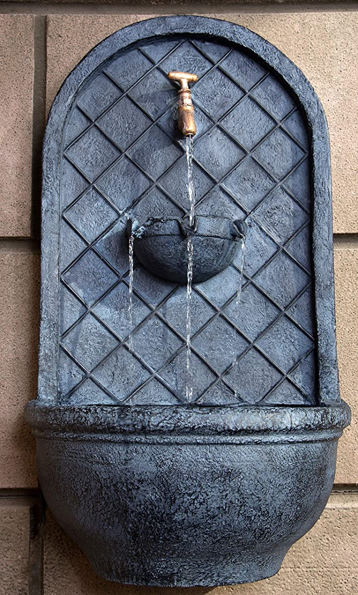 The Milano - Outdoor Wall Fountain - Slate Grey 