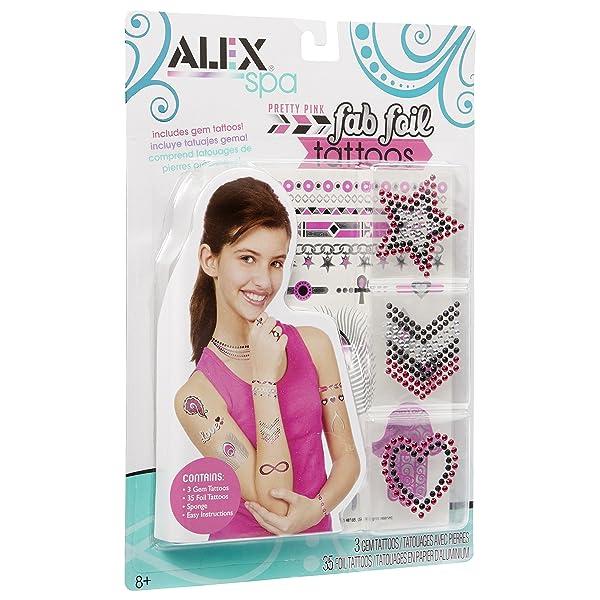 ALEX Spa Fab Foil Tattoos Pink