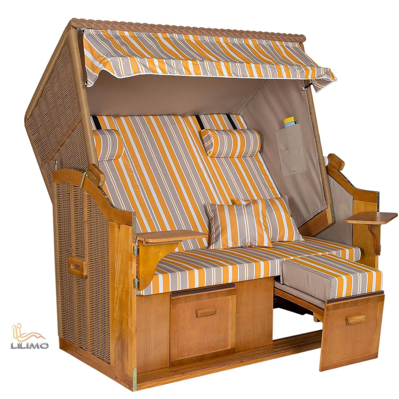 strandkorb heringsdorf royal xl ygg natur gelb grau. Black Bedroom Furniture Sets. Home Design Ideas