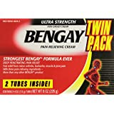 Bengay Ultra Strength Pain Relieving Cream, 2 Count, 4 Ounces Box, 8 Total Ounces (Color: RED, Tamaño: 2 Count)
