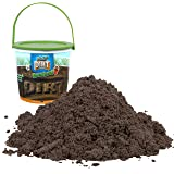 Play Dirt Bucket (3 Lb) - Unique Kinetic Dirt-Like Sand for Burying and Digging Fun by Sands Alive (Color: Brown)