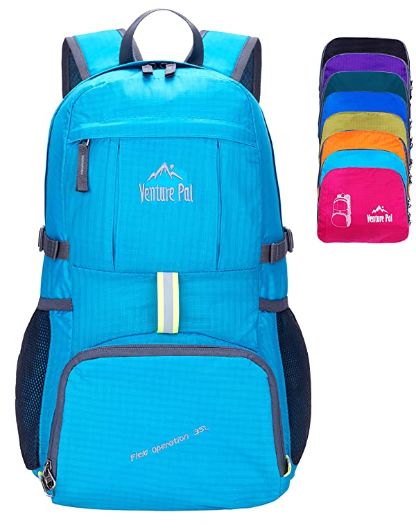 3855bad63e Venture Pal Ultralight Lightweight Packable Foldable Travel Camping Hiking  Outdoor Sports Backpack Daypack (Blue)
