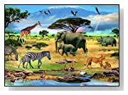 Animals in Africa 1000-Pieces AR Puzzle