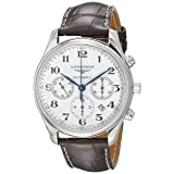 Longines Master Chronograph Automatic Silver Dial Mens Watch L27594783 (Color: Silver)