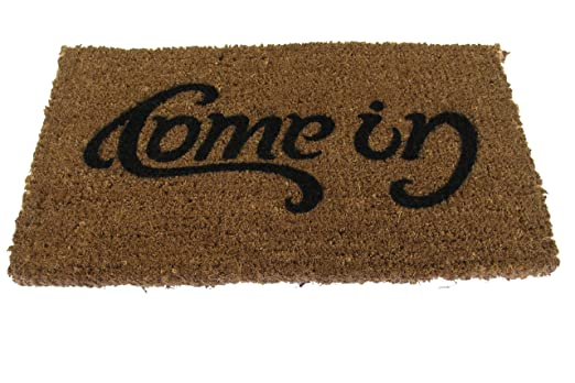 Amazon.com - SUCK UK Ambigram Door Mat - Come in, Go Away -