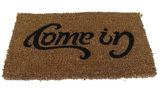 Amazon.com - SUCK UK Ambigram Door Mat - Come in, Go Away -
