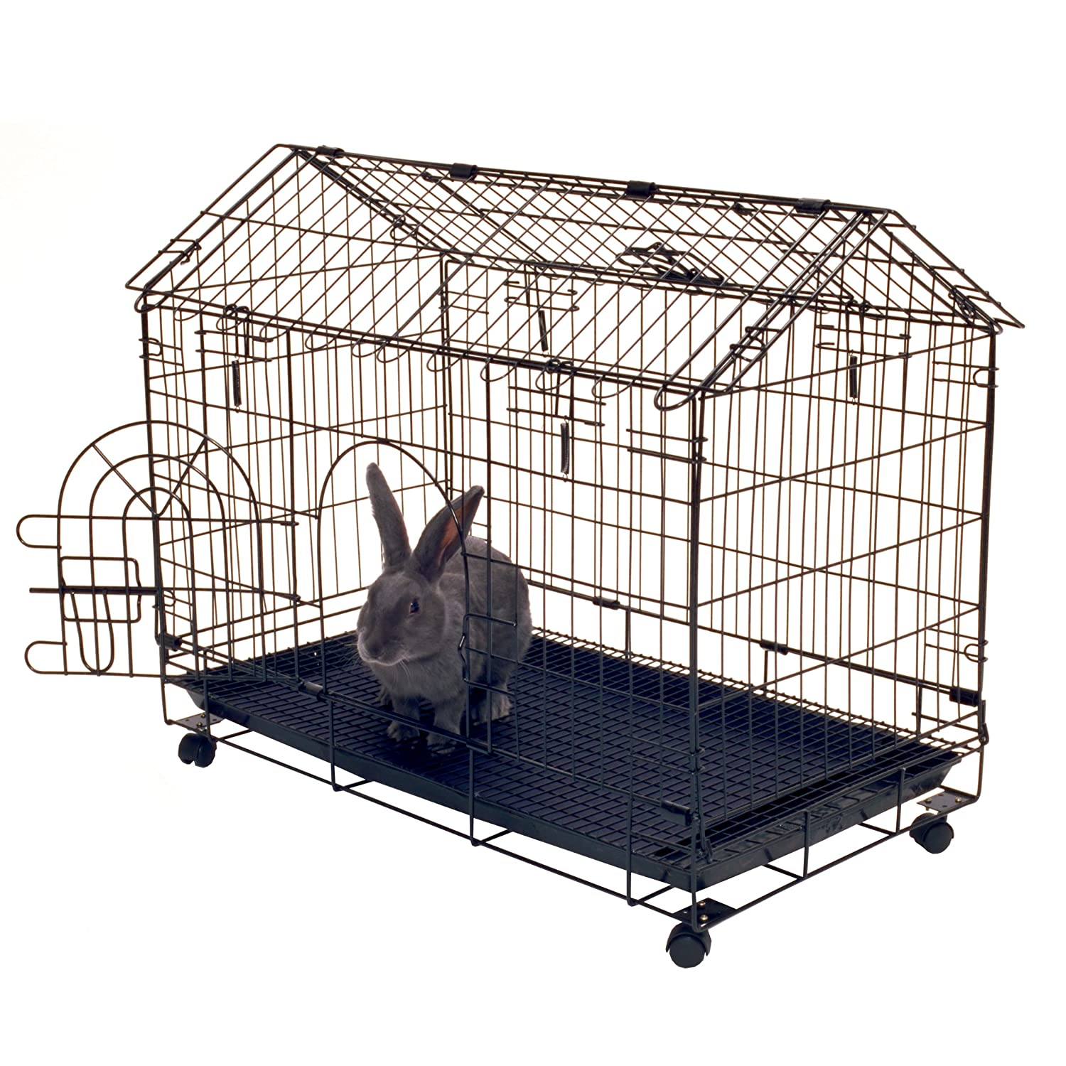 Rabbit House Cage Indoor Outdoor Bunny Crate Small Pet ...