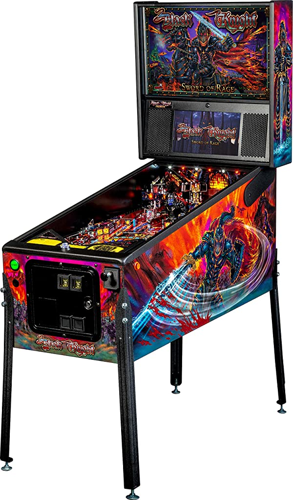 Stern Pinball Black Knight: Sword of Rage Arcade Pinbal Machine, Premium Edition (Color: Black)