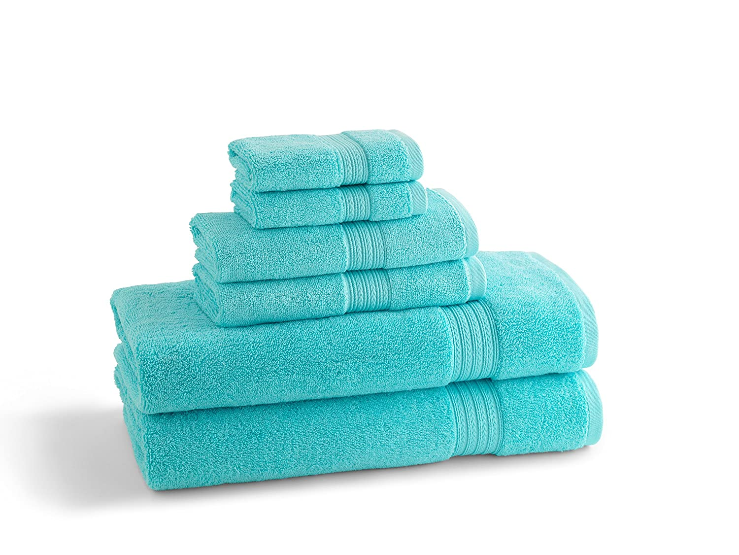 Kassatex Kassadesign Brights Collection Bath Towel, Caribbean Blue kassatex kassadesign brights collection bath towel caribbean blue