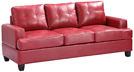 Glory Furniture G589A-S Living Room Sofa, Red
