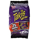 Barcel, Mini Takis, Fuego Rolled Tortilla Snacks, 25 Count (1.2oz Each), 30.9oz Bag (Pack of 3)
