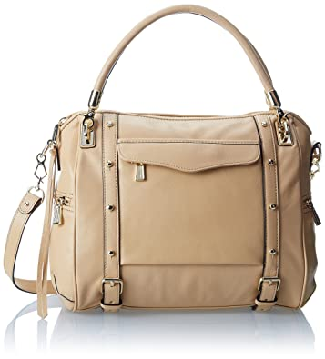 Rebecca Minkoff Cupid Satchel Top Handle Handbag (Biscuit)