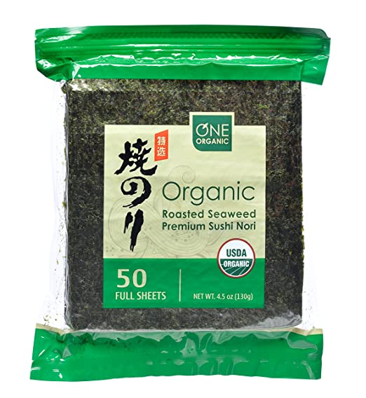ONE ORGANIC Sushi Nori Premium Roasted Organic Seaweed Via Amazon