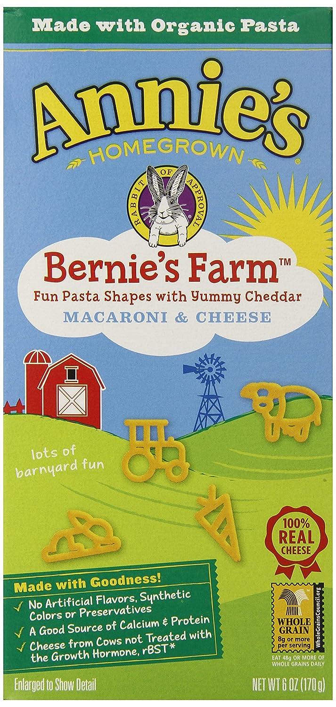 Annie's Pasta, Bernie's Farm, 6 Ounce Box (Pack of 12)