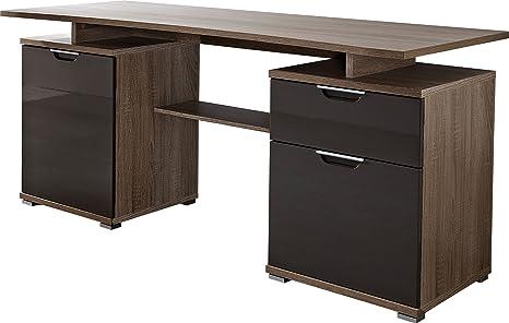Germania Computer Desk, 160 x 75 x 70 cm, Oak-dark/graphite