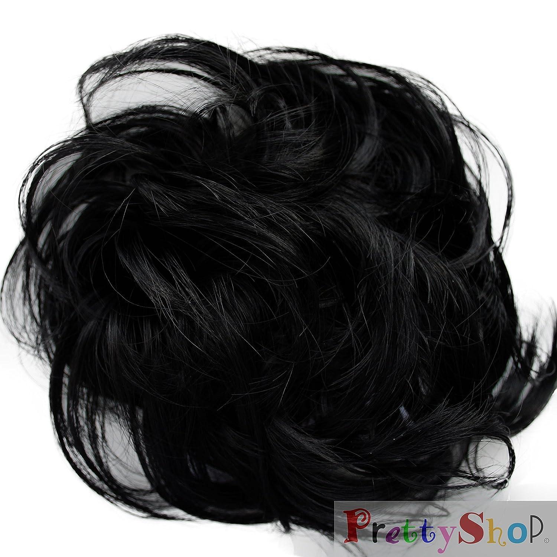 Black Hair Bun Pieces Bun up do Hair Piece Hair