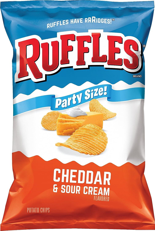 Ruffles Potato Chip, Cheddar Sour Cream, 13.5 Ounce