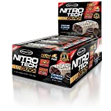 MuscleTech NitroTech Crunch Protein Bar, Cookies and Cream, 22 Grams Protein, 5 Grams of Fiber, 240 Calories, Low Carb, Gluten Free, 65g Bars, 12 Count (Tamaño: 12 Count)