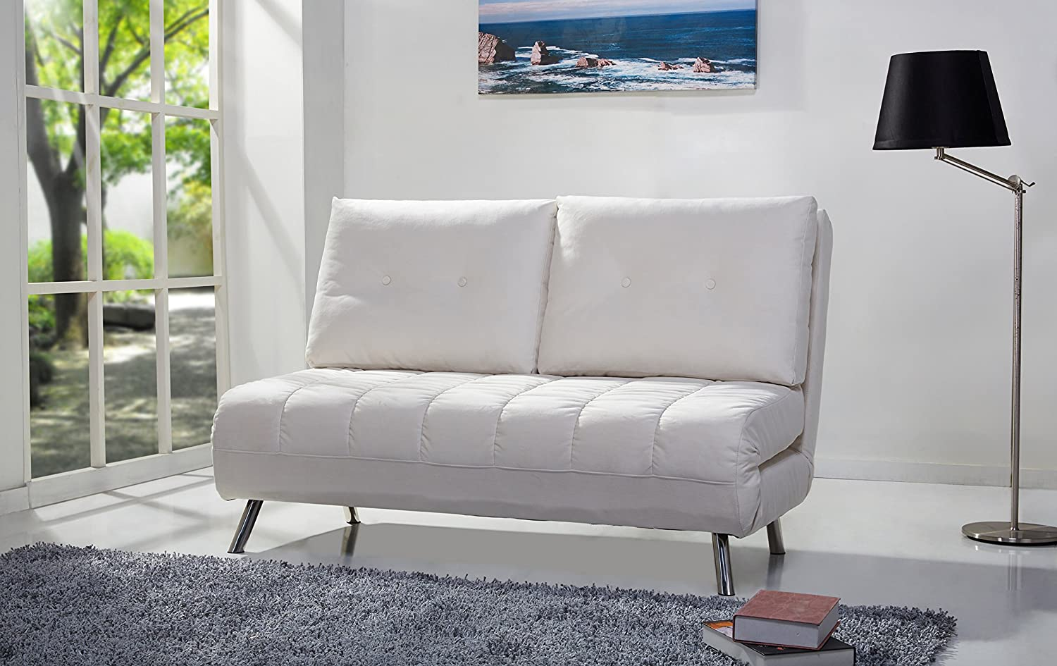 Gold Sparrow Tampa Convertible Loveseat Sleeper - Ivory