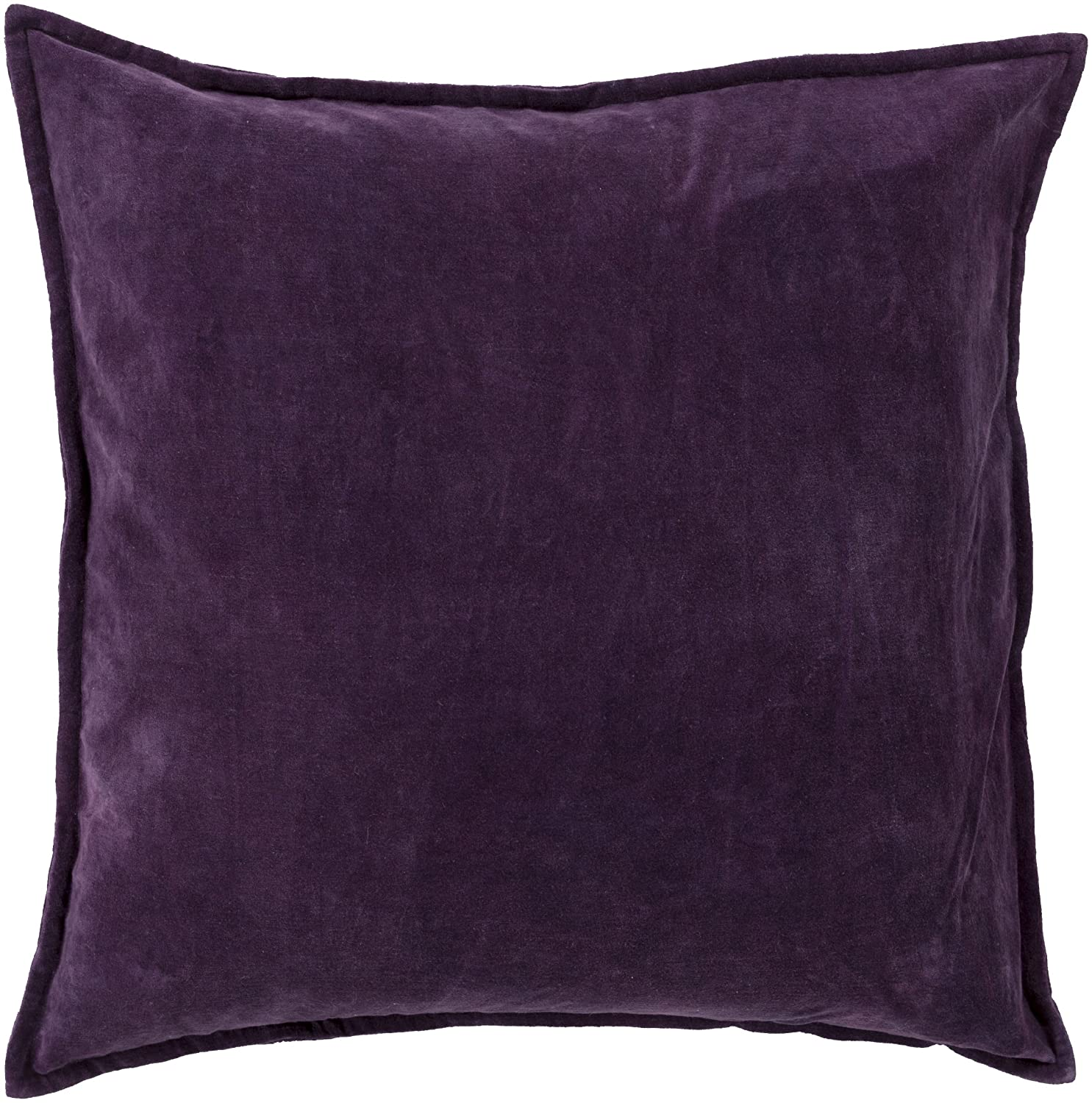 Surya CV006-1818P Synthetic Fill Pillow, 18 by 18-Inch, Eggplant