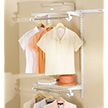 Rubbermaid Configurations Expandable Clothes-Hanging Kit, 48-inch, White (FG3H92DWWHT)