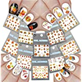 Nail Art Water Slide Tattoo Decals ? Fall Into Fun Thanksgiving Theme - 10 Pack (Tamaño: multi color)