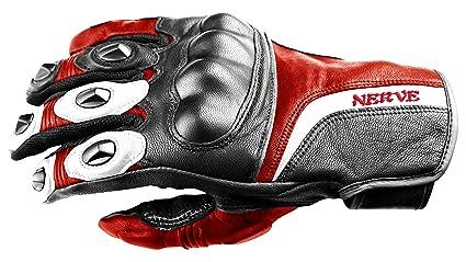 NERVE 31140301_01  KQ11 Gants Moto, Noir-Rouge, Taille XS/7