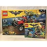 LEGO Batman Movie Killer Croc Tail-Gator & LEGO Batman Movie Scarecrow Fearful Face-Off