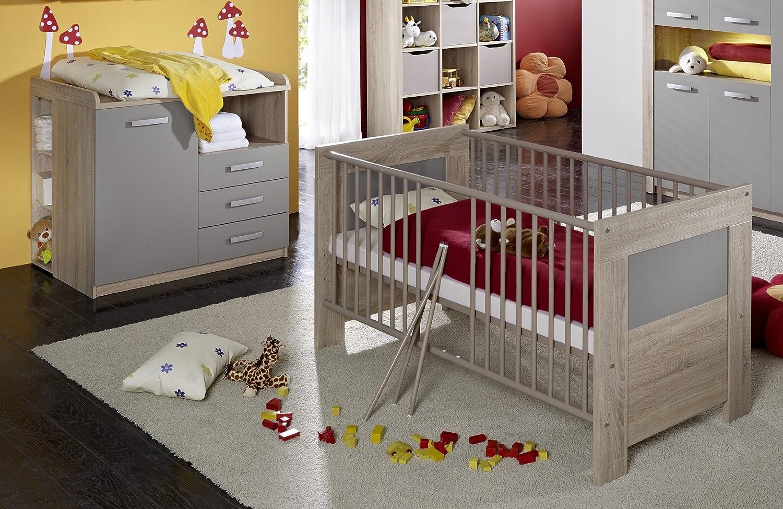 iovivo Kinderzimmer Max, 2-teilig Eiche-Sägerau/Weiss matt bestellen