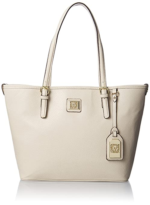 Anne Klein Perfect Medium Tote Handbag, Vanilla Bean, One Size