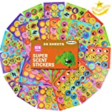 HORIECHALY 36 Sheets Scratch and Sniff Stickers,9 Different Sweet Smells Have Fun with Your Teachers,Parent,Friends for Reward,Crafts,Motivation-Reward Stickers