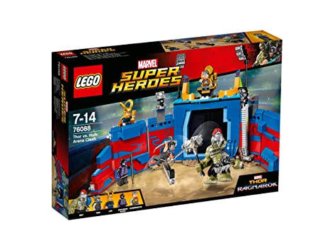 LEGO - 76088 - Marvel Super Heroes - Jeu de Construction - Thor contre Hulk : le combat dans l'arène