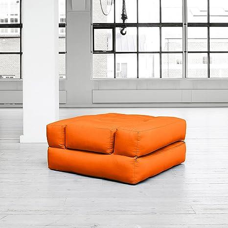 KARUP - CUBE poltrona scomponibile in futon arancione