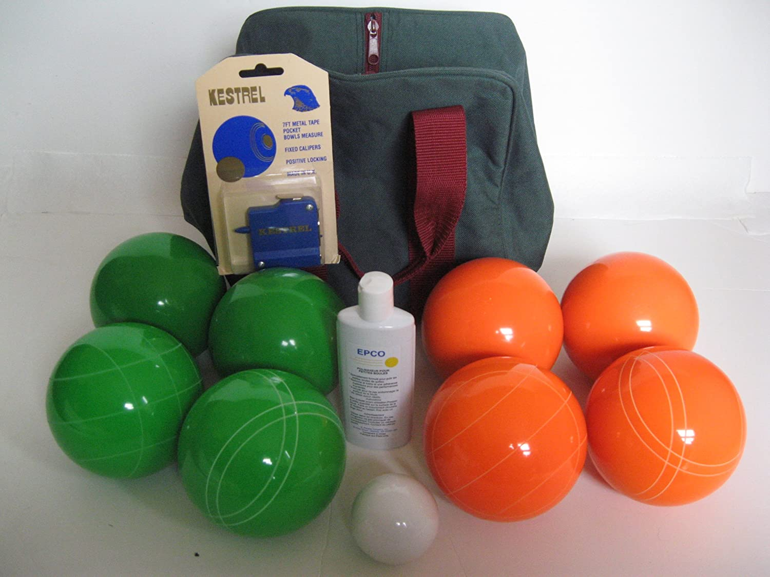Premium Quality Basic EPCO Bocce package – 107mm Green and Orange balls, qual… günstig bestellen