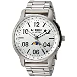 Nixon Men's 'Ascender' Quartz Stainless Steel Casual Watch, Color:Silver-Toned (Model: A12081920) (Color: All Silver, Tamaño: One Size)