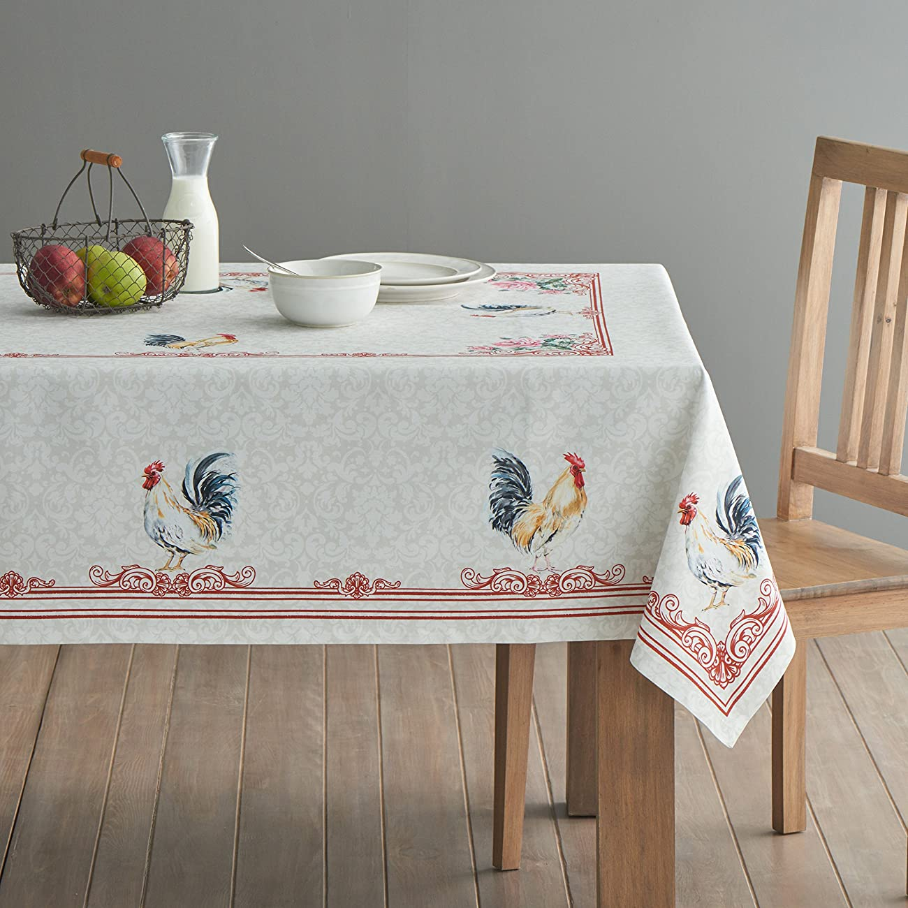 Maison d' Hermine Campagne 100% Cotton Tablecloth 60 - inch by 60 - inch. 1