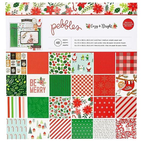 Pebbles 733940 Paper Pad, Multi (Color: Multi, Tamaño: 12-x-12-Inch)