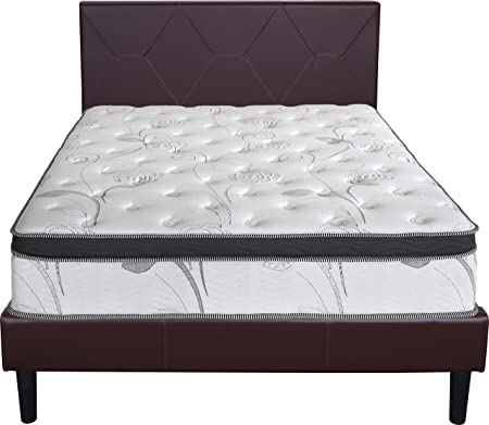 Comforest 13 Inch Cool I Gel 4 Layered Euro Box top Hybrid Innerspring Mattress Full 13SM01F