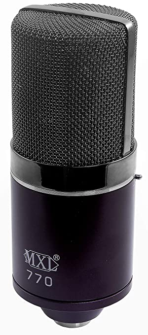 MXL Mics Condenser Microphone, 770 MIDNIGHT (MXL770MIDNIGHT) (Color: 770 MIDNIGHT)