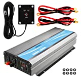 GIANDEL 3000W Heavy Duty Power Inverter 12V DC to 110V 120V AC 20A Solar Charge Controller Remote Control Dual AC Outlets & USB Port for RV Truck Solar System (Color: 3000W+Solar, Tamaño: 3000W+Solar)