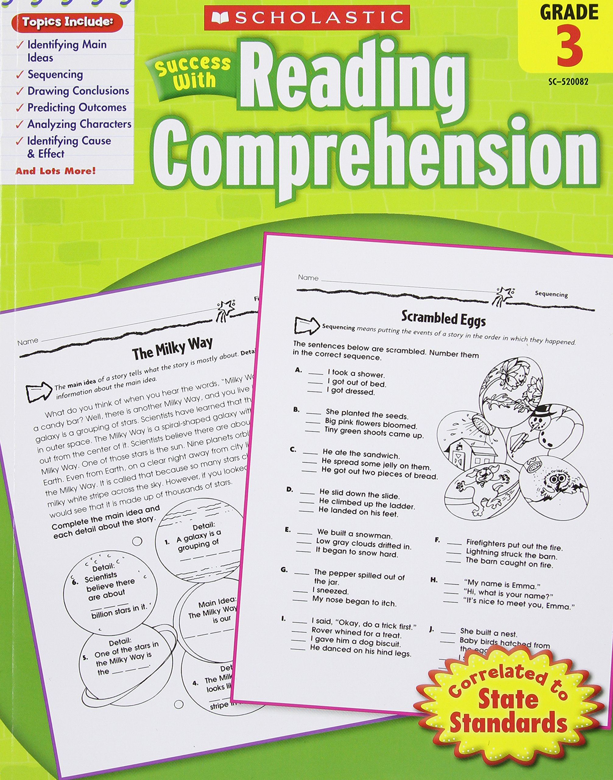 Worksheet Reading Comprehensions For Grade 5 buy scholastic success with reading comprehension grade 3 book online at low prices in india co