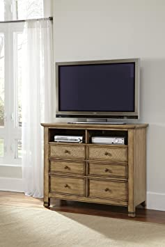 Progressive Furniture Kingston Isle II 6 Drawer Media Chest - Sand