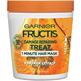 Garnier Hair Care Fructis Damage Repairing Treat 1 Minute Hair Mask With Papaya Extract, 13.5 Fluid Ounce