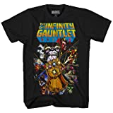 Marvel Thanos Avengers Infinity War Gauntlet Hulk Spider-Man Iron Man Strange Adult Men's Graphic Tee T-Shirt Apparel (Meduim) (Color: Black, Tamaño: Medium)