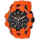 Invicta Men's 'Bolt' Quartz Stainless Steel and Silicone Casual Watch, Color:Orange (Model: 23872) (Color: Black)