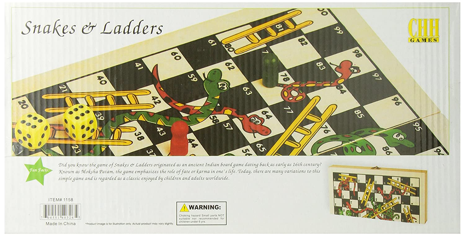 Buy Folding Wooden Snakes And Ladders Game Online At Low Prices In India   Amazon