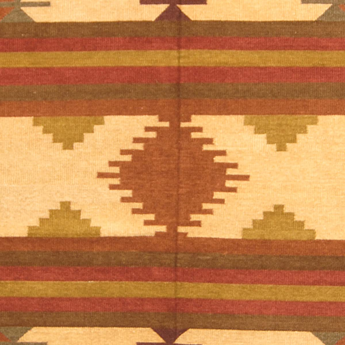 Herat Oriental Indo Hand-Woven Chenille Dhurrie Wool Rug, 6 x 9, Rust/Brown