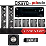 Polk Audio TSi 500 7.1-Ch Home Theater Speaker System with Onkyo TX-NR777 7.2-Ch Network AV Receiver