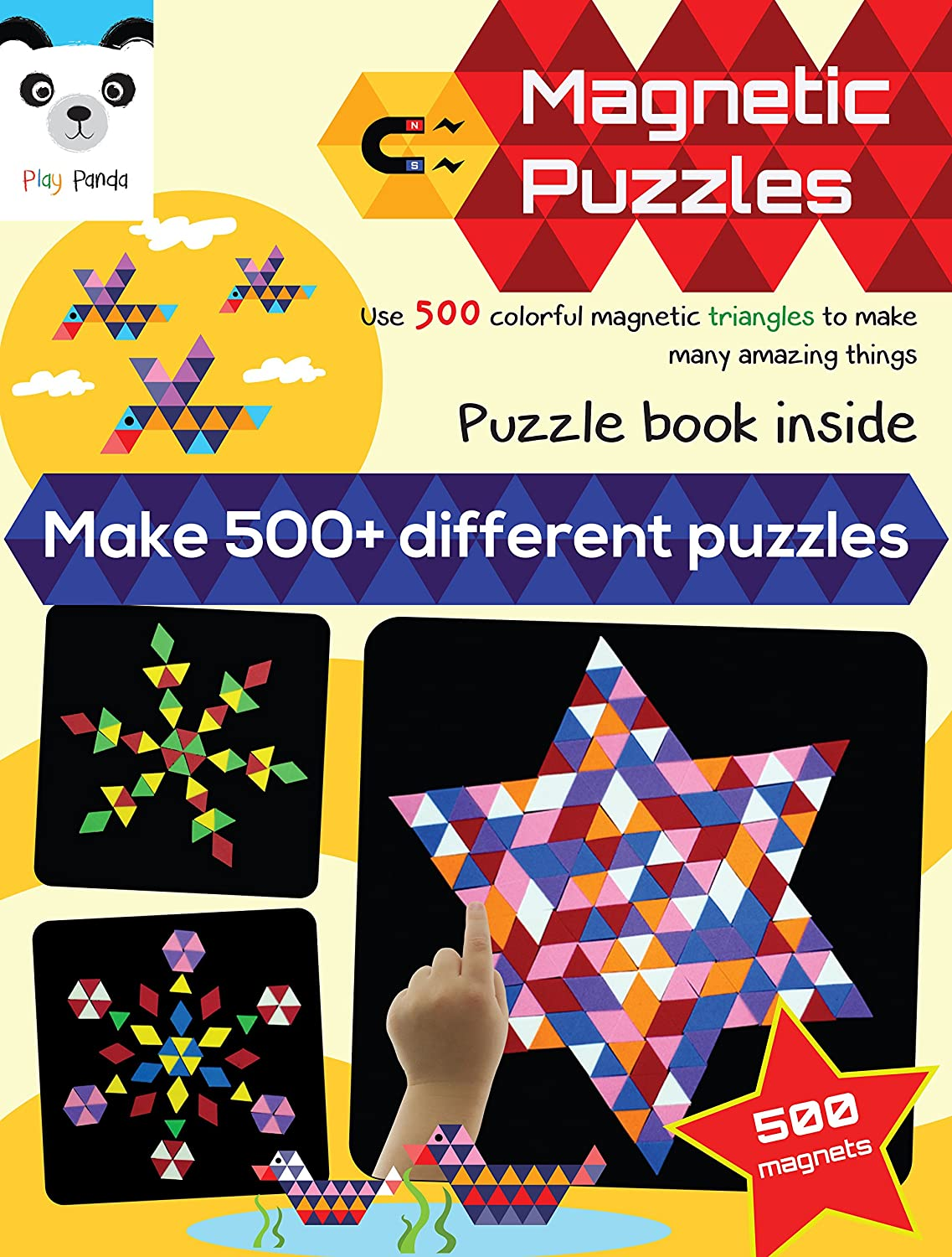 Buy Play Panda Magnetic Puzzles : Triangles (500 Colorful Magnets) (medium)  Online At Low Prices In India  Amazon